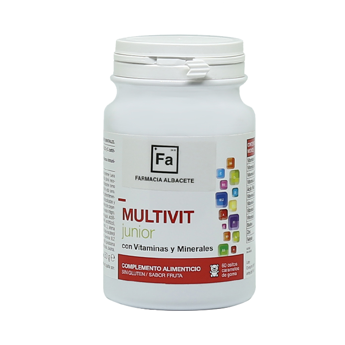 MULTIVIT JUNIOR. Frasco 60 CARAMELOS