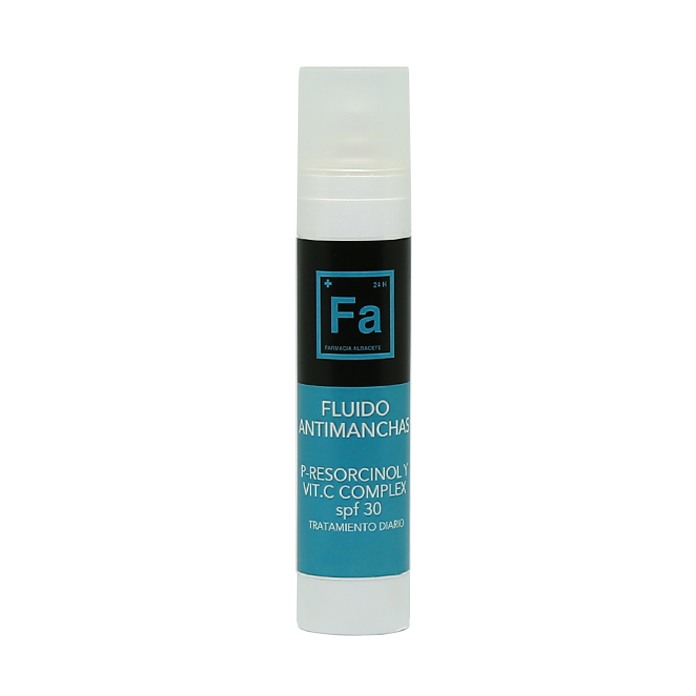 FLUIDO ANTIMANCHAS P-RESOCINOL Y VITAMINA C. Frasco 50 ML